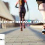 Décisions sanitaires pour la pratique du sport