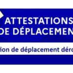 Nouvelles attestations de déplacement, au 3 avril 2021