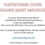 Cyberattaque sur la plateforme COVID de Bourg St Maurice