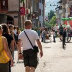 Expérimentation de la piétonisation de la grande rue d'Aime, ce mois de juin